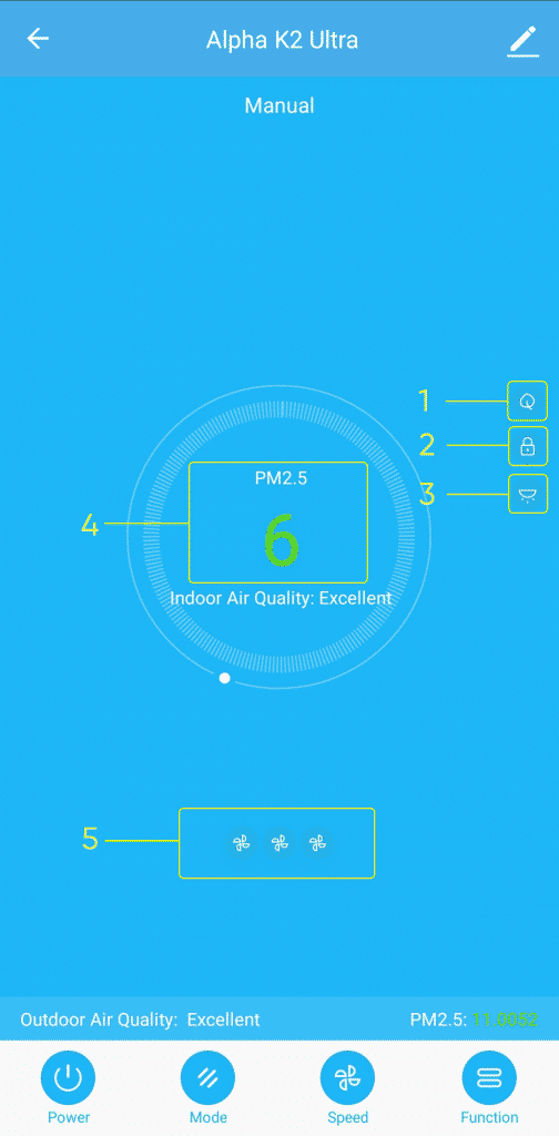 Alpha K2 Ultra Smart Life Aplikacija Prečišćivači vazduha